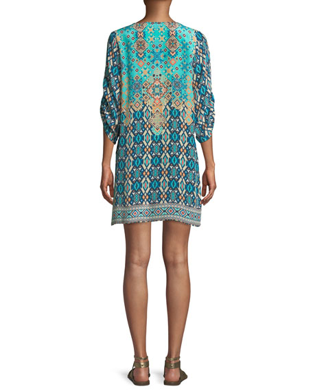Josephine Southwestern Silk Easy Tunic/Dress