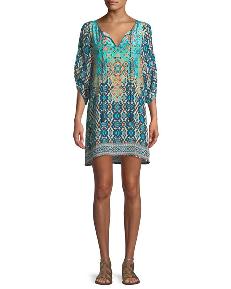 Josephine Southwestern Silk Easy Tunic/Dress