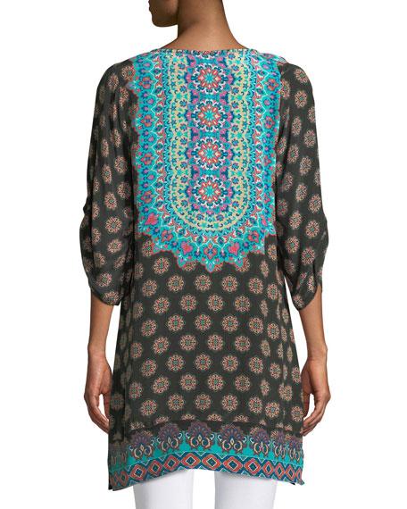 Sanaya Medallion-Print Easy Tunic/Dress