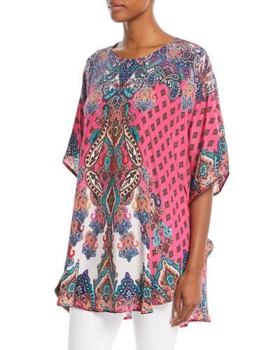 Narissa Printed Silk Tunic