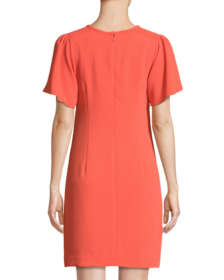 Anderson Short-Sleeve Cutout Mini Dress