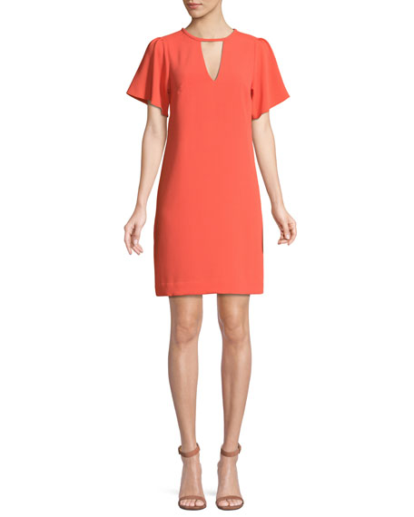 Trina Turk Anderson Short-Sleeve Cutout Mini Dress