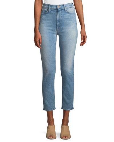 Dazzler Straight-Leg Ankle-Length Jeans