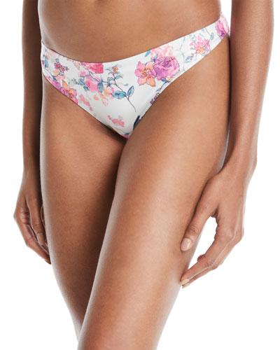 Brogan Floral-Print Hipster Bikini Bottom