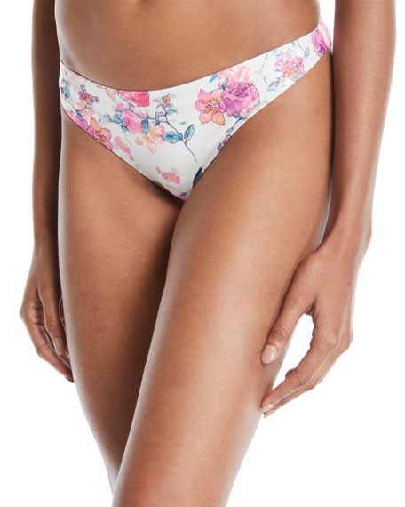 TULAROSA Brogan Floral-Print Hipster Bikini Bottom in Multi