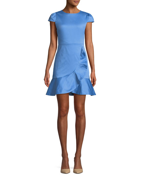 Alice + Olivia Kirby Short-Sleeve Ruffle Mini Dress