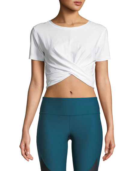 Vanish BreatheLux Cross-Front Performance Crop Top