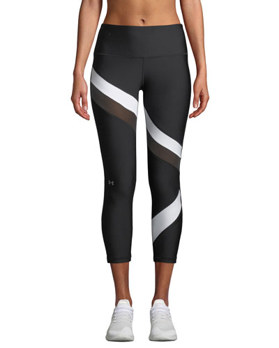 HeatGear® Striped Cropped Performance Leggings