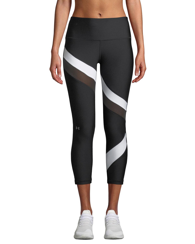 5511539113896 Under Armour HeatGear® Striped Cropped Performance Leggings   Neiman ...