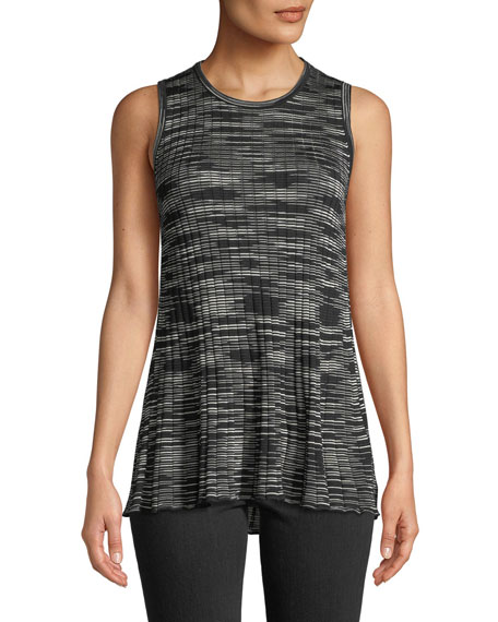 Space-Dyed Ribbed Crewneck Tank