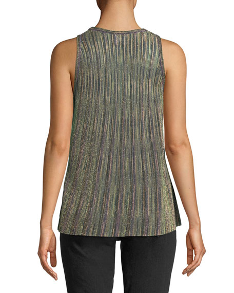 Metallic Knit Sleeveless Top