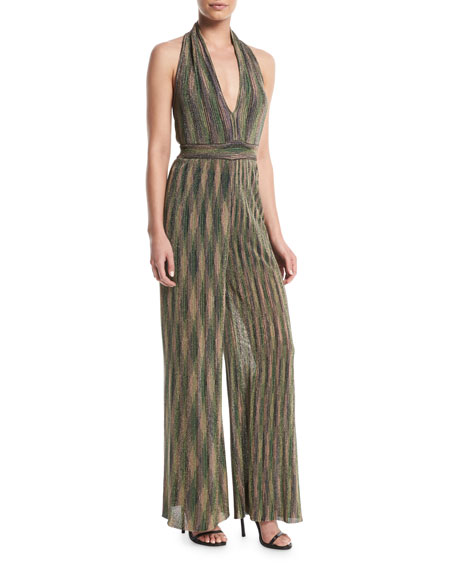 M Missoni Halter Lurex?? Wide-Leg Jumpsuit