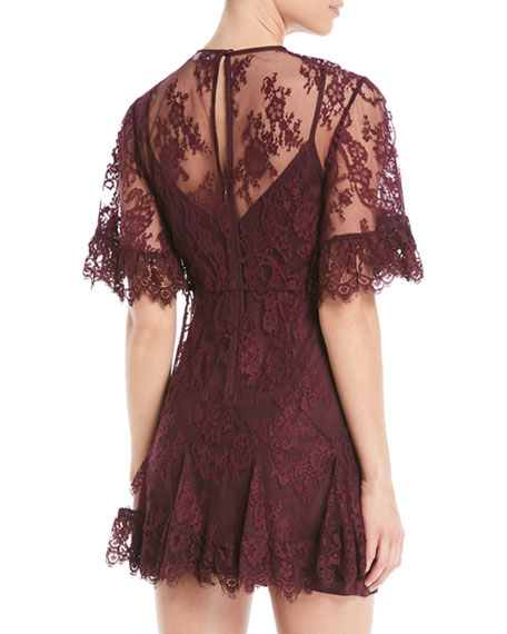 Blind Love Illusion Lace Mini Dress