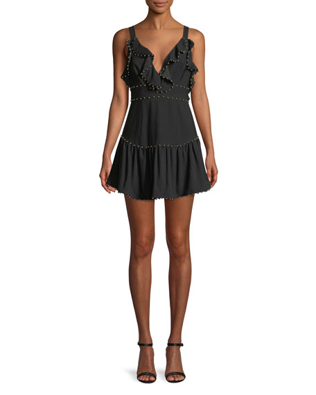 La Maison Talulah Rare Beauty Ruffle Mini Dress