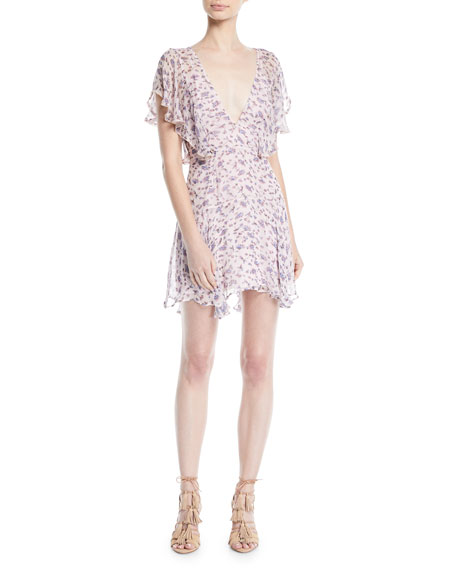 La Maison Talulah Incandescent Floral Ruffle Mini Dress