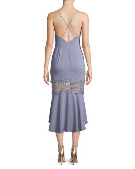 Heavenly Sleeveless Flounce Midi Dress