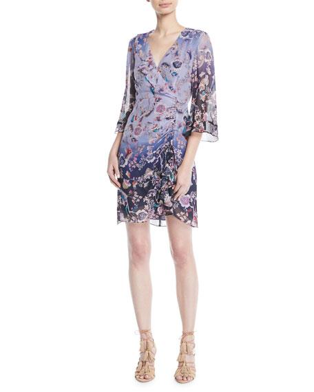 Nanette Lepore Ombr?? Kimono Mini Dress