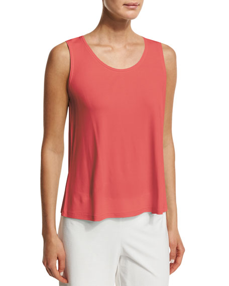 Eileen Fisher Scoop-Neck Stretch-Silk Tank