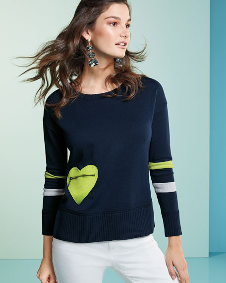 Heartthrob Cotton-Cashmere Sweater, Plus Size