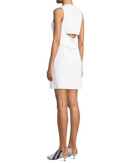 Structured Crepe Sleeveless Dress