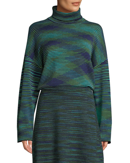 M Missoni Chunky Space-Dyed Turtleneck Sweater and Matching