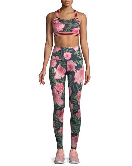 Lux Floral High-Rise Full-Length Leggings