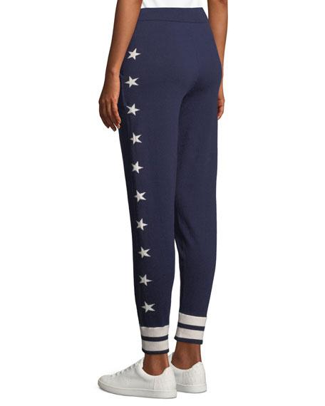 Elsie Star-Intarsia Track Pants