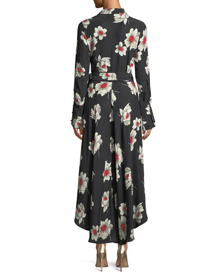 Gowen Floral-Print Silk Wrap Dress