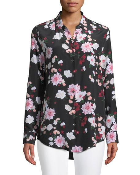 Essential Garden Party Print Silk Blouse