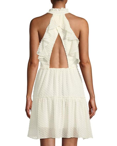 Emi Sleeveless Ruffle Dress w/ Cutout Back