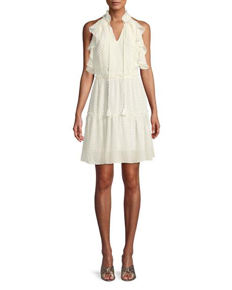 Rebecca Minkoff Emi Sleeveless Ruffle Dress w/ Cutout