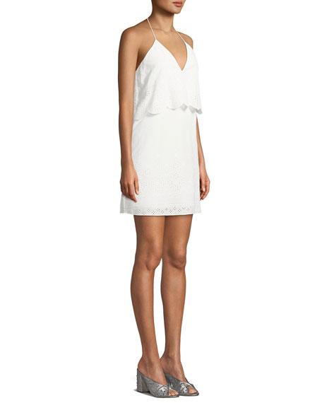 The Ashley Popover Eyelet Mini Dress