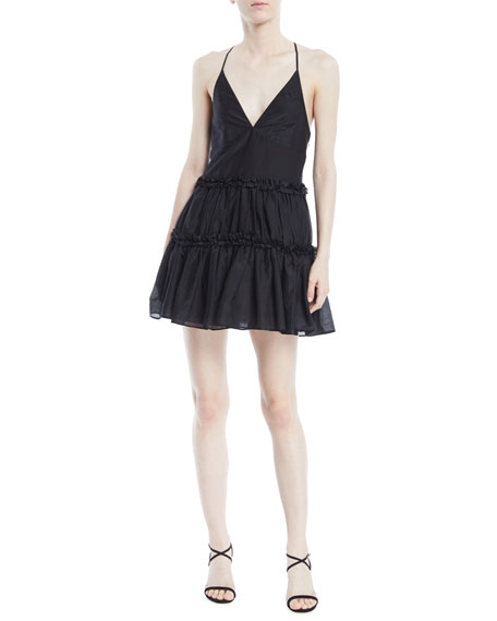 The Sky Racerback Ruffle Slip Dress