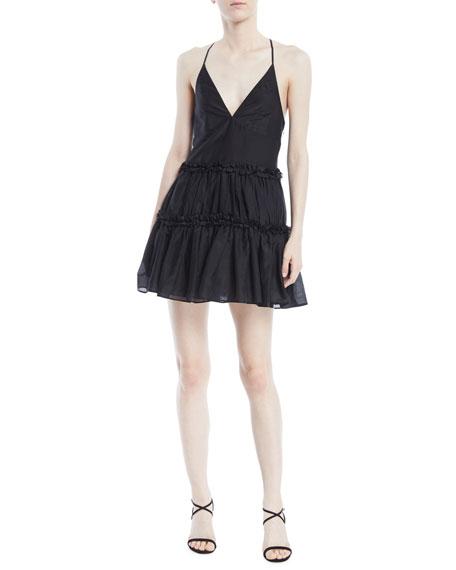 Cami NYC The Sky Racerback Ruffle Slip Dress