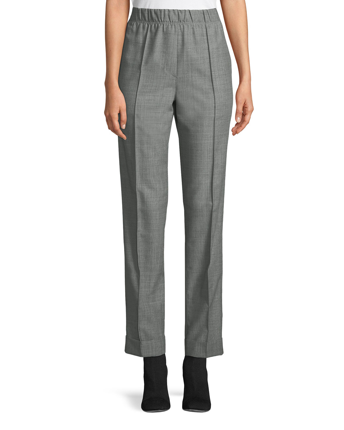 d9fca1a280996 Helmut Lang Pull-On Wool-Mohair Suit Pants