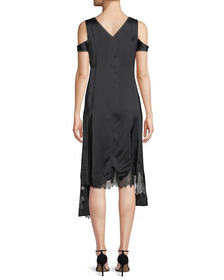 Deconstructed Lace Slip Dress