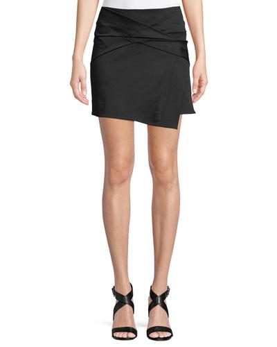 Folded Draped Mini Skirt