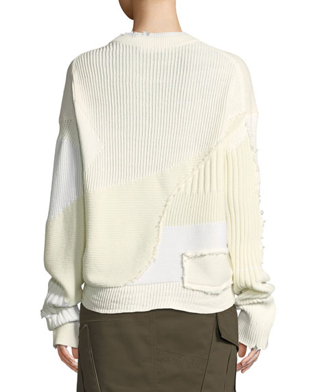 Ribbed Oversized Crewneck Sweater