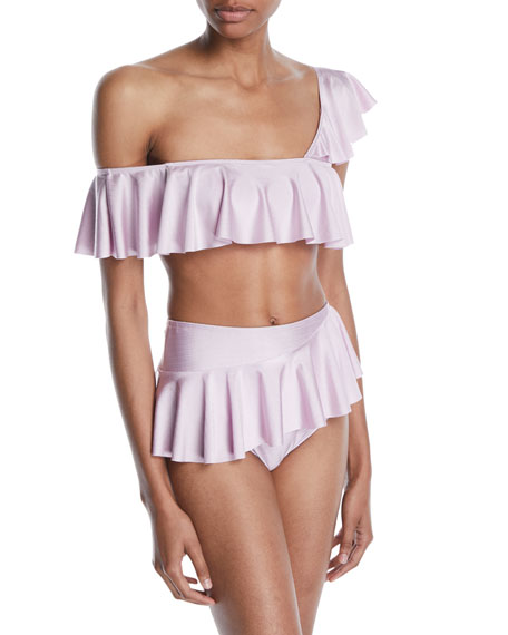 Nala One-Shoulder Ruffle Bikini Top