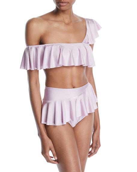 Tularosa Nala One-Shoulder Ruffle Bikini Top