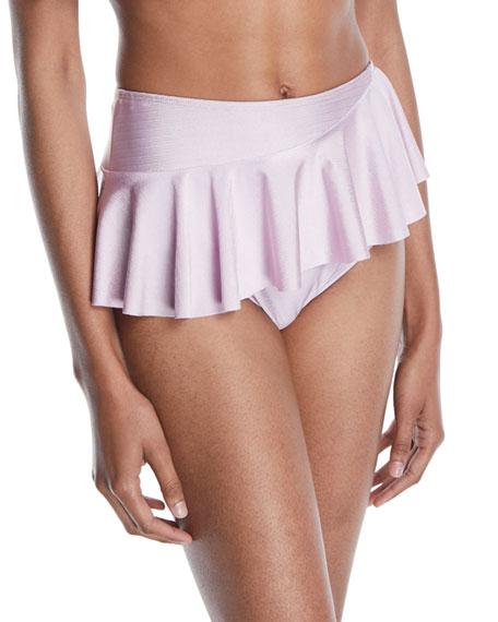Nala High-Waist Ruffle Skirted Bikini Bottom