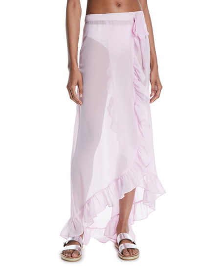 Nala Ruffle Wrap Swim Coverup Skirt