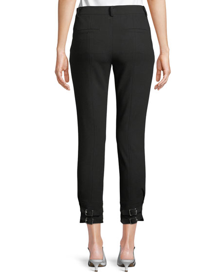 Anson Stretch Skinny Pants with Buckles