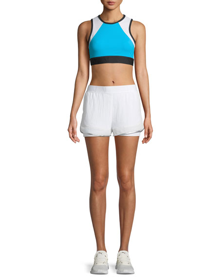 Strata Mesh-Panel Running Shorts