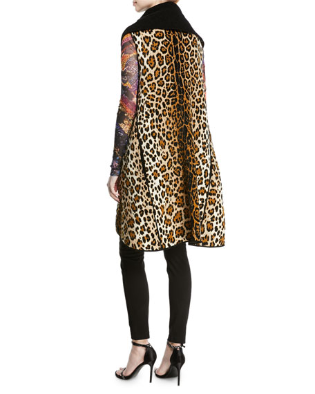 Twin-Face Animal-Print Vest