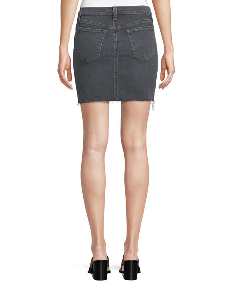 Lyla Frayed Denim Mini Skirt