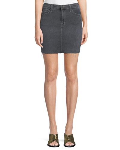 Lyla Frayed Denim Mini Skirt