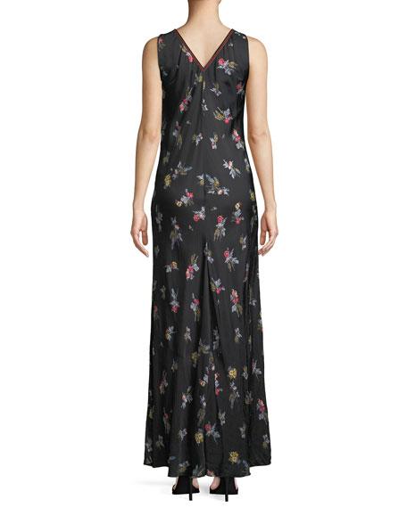 Highlands Floral Satin Maxi Dress