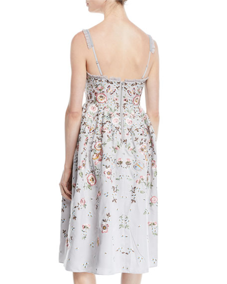 Butterfly Rose Cami Midi Dress