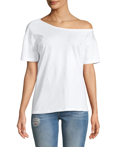 Off-the-Shoulder Cotton Tee